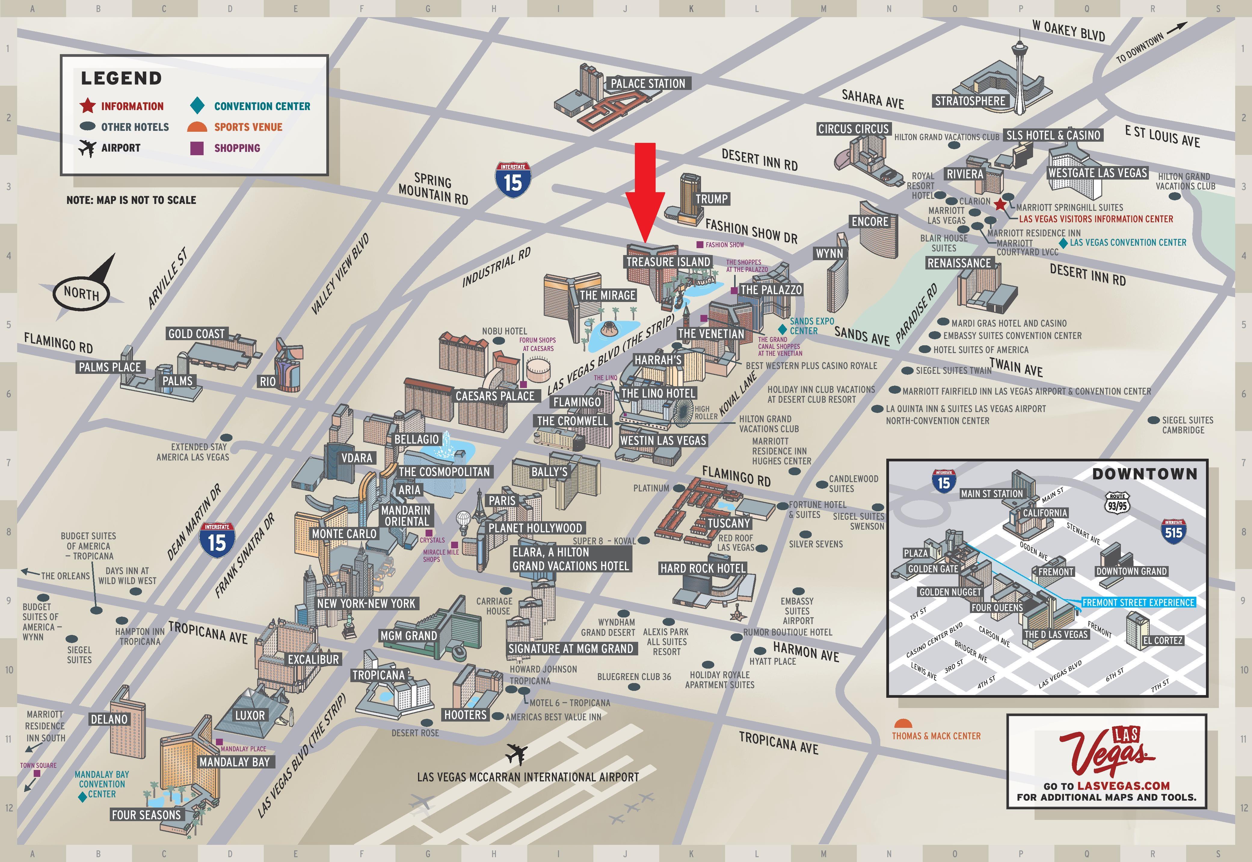 Sls Las Vegas Map